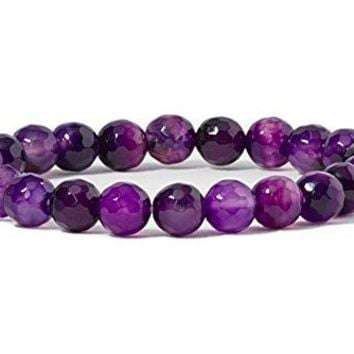 Cherry Tree Collection Gemstone Beaded Stretch Bracelet 8mm Round Beads 7quot
