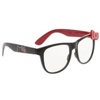Hello Kitty Black Red Bow Retro Clear Lens Glasses