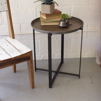 Numéro 10 Side Table with Recycled Metal