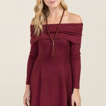 Kenley Off The Shoulder Knit Dress