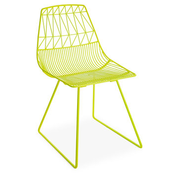 Lucy Chair, Neon Yellow, Outdoor Dining Chairs
