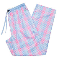 Gingham Savannah Lounge Pant in Lilac and Pink by Southern Marsh - FINAL SALE