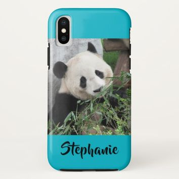 iPhone X Tough Case Giant Panda Scuba Blue