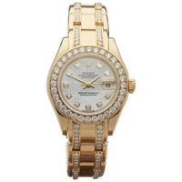 Rolex Ladies yellow gold Oyster Perpetual Datejust Pearlmaster Wristwatch
