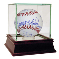 Frank Robinson Signed MLB Baseball w 11 Career Stat Inscriptions