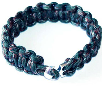 Men Survival Bracelet - For him,  gift ideas, paracord, man gift ideas, boy, teen, boyfriend, friend, brother, parachute, camuflage