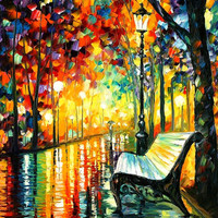 "She Left... — PALETTE KNIFE Landscape Oil Painting On Canvas By Leonid Afremov - Size: 30"" x 36"""