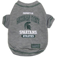 Michigan State Spartans (MSU) Pet Tee Shirt