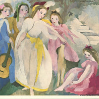 Marie Laurencin, Parisian Art Prints, French Vintage Prints, French Prints, Avant Garde Art, Ready to Frame Prints,
