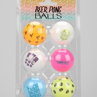 Beer Pong Ball - Set Of 6 - Urban Outfitters