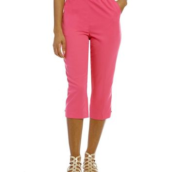 Allison Daley Grommet Tab Hem Pull-On Capri | Dillards