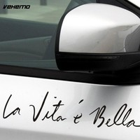 40*8cm 2017 New Car Styling Stickers Life is Beautiful Car Stickers Wall Sticker Vinyl Decal Personality Waterproof Accessoriess
