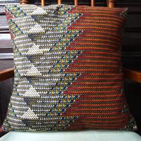 EXCLUSIVE African Wax Print Pillows (CHEVRON Remix)