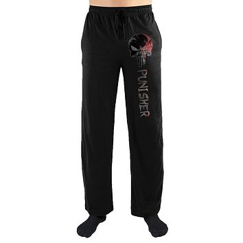 Marvel Comics The Punisher Gray Skull Print Men's Loungewear Lounge Pants Gift