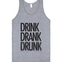Drink Drank Drunk (tank)-Unisex Athletic Grey Tank