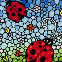 Joyous Ladies Ladybugs by Sharon Cummings by Sharon Cummings on Crated