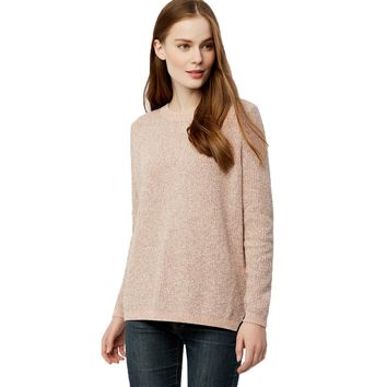 Emma Shaker Stitch Sweater in Pink Champagne by 525 America