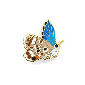 Miami Blue Butterfly Pin