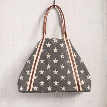 MONA B FREEDOM UPCYCLED CANVAS WOMEN'S WEEKENDER BAG