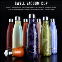 New Top Quality Swell Coke bottle Creative Insulation Cup With High-Grad Stainless Steel Vacuum Bottle Star Coffee Cup water cup
