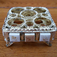 Vintage Ornate Gold Toned Filigree Lipstick Holder Perfect For Your Vanity Boudoir Photography Prop
