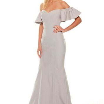 Alissia Off Shoulder Prom Formal Event Dress Gown