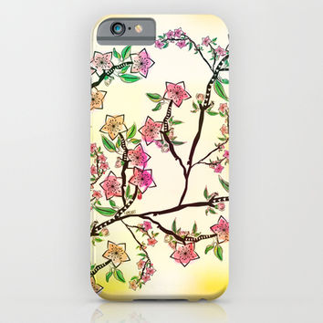 Cherry Blossoms iPhone & iPod Case by Famenxt