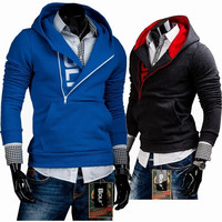 Print Hoodies Men Slim Pullover Tops Hats Jacket [6528648579]