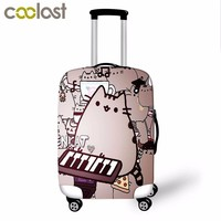 Pusheen Cat High Elastic Luggage Protective Cover Suitcase Cover for 18-28 Inch Luggage Fashion Baggage Set Travel Accessories