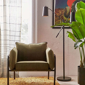 Howell Canvas Arm Chair | Urban Outfitters