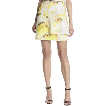 Kiind Of Womens Scuba Printed Tiered Skirt