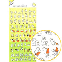 Adorable Bunny Rabbit Cartoon Flip Book Storytelling Stickers | Cute Animal Themed Scrapbook Decorating Supplies