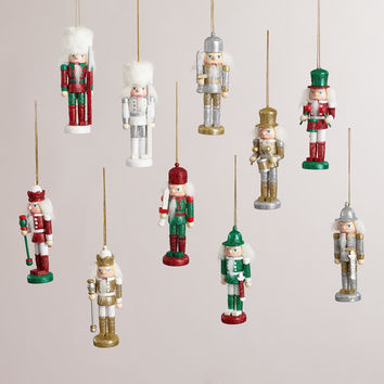 Wooden Traditional Nutcracker Ornaments, Set of 2 - World Market