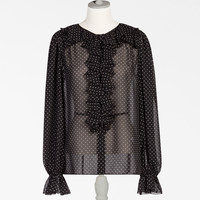 Shirts and blouses for women | Dolce&Gabbana - PRINTED BLOUSE IN GEORGETTE