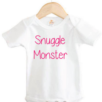 Snuggle Monster Onesuit // Baby Onesuit // Baby Clothing // baby gear// fun Onesuit