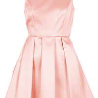 DUCHESS SATIN BOW BACK PROM DRESS
