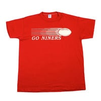 "Vintage 80s San Francisco 49ers ""Go Niners"" Shirt Made in USA Mens Size Large"