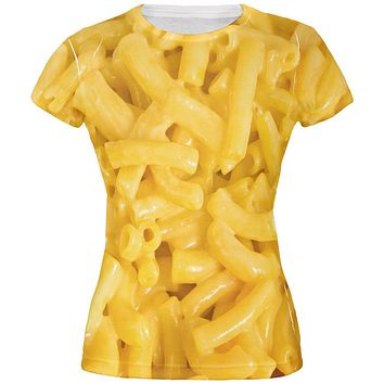 Mac and Cheese All Over Juniors T Shirt