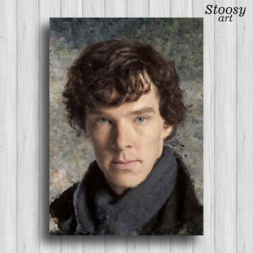 Sherlock poster home decor art print movie painting
