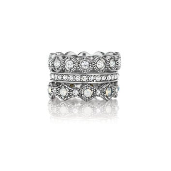 Heirloom Crystal Stackable Rings