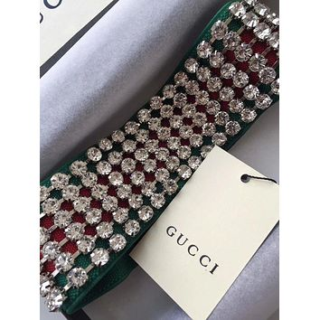GUCCI Crystals Diamond Headband Headwrap Head Hair Band I