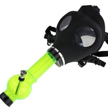 Water pipe with gas mask
