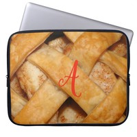 Apple pie lattice crust laptop sleeve