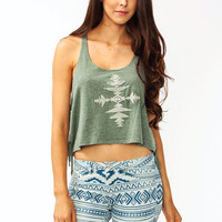 Braided-Fringe-Cropped-Top OLIVE - GoJane.com