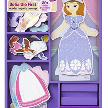 Sofia the First Wooden Magnetic Dress-Up Play Set
