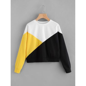 Cut & Sew Drop Shoulder Pullover