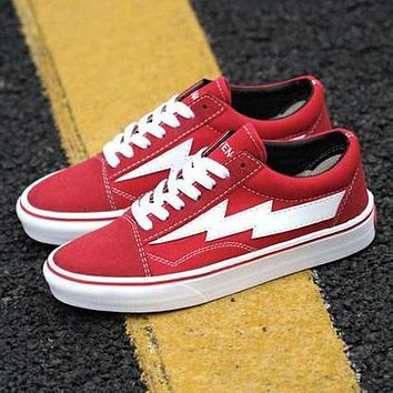 lightning bolt vans red