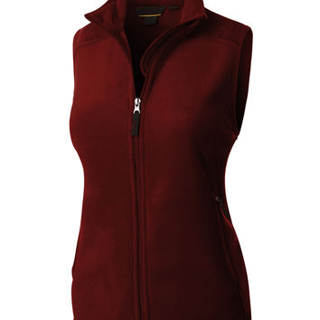LE3NO PREMIUM Womens Performance Fleece Thermal Zip Up Jacket Vest