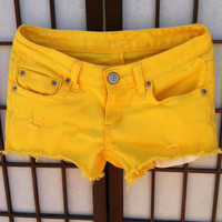 SALE Smiley Face Cutoff Shorts