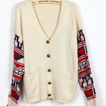 # Free Shipping # Beige Loose Women Knitting Sweater One Size VF9019be from ViwaFashion